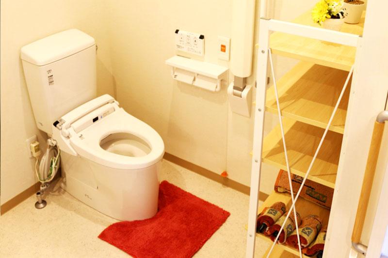 バリアフリーの使いやすいトイレ